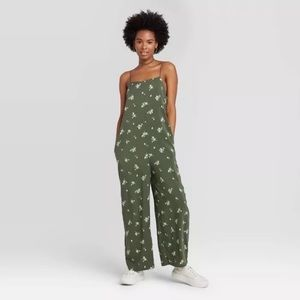 Wild Fable Green Wide Leg Jumpsuit